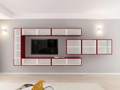 Set Mobila Living Quadro 15 MDF Bordo3