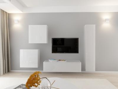 Set Mobila Living Quadro 4 MDF Alb0