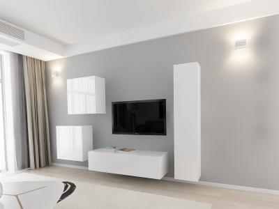 Set Mobila Living Quadro 4 MDF Alb1