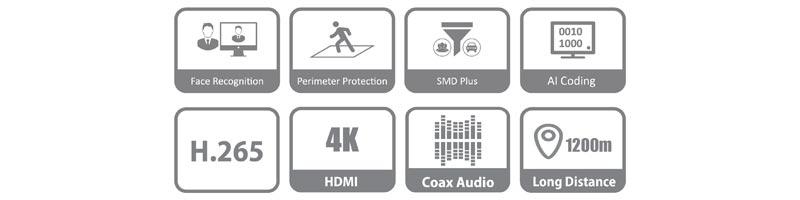 DVR 4 canale Dahua XVR5104HS-4KL-I2 WizSense Pentabrid, 1080P, H.265+, 8MP  I-Systems_caracteristici-01