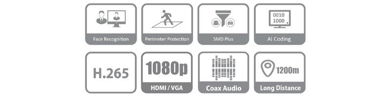 DVR XVR 4 canale Dahua XVR5104HS-I2 WizSense Pentabrid, 1080P, H.265+, 5MP  I-Systems_Wizsense-01