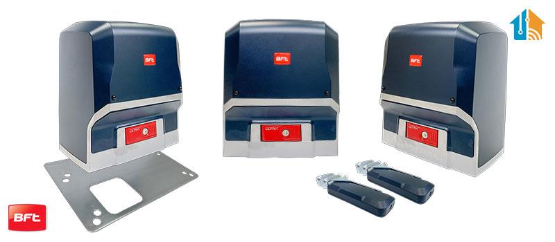 Proiect Kit automatizare porti culisante, Deimos A600 BT, Bft, 600Kg/poarta, 4m cremaliera, 12 m/min, 24V, casa smart