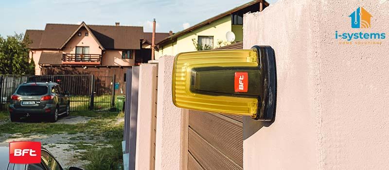 Lampa semnalizare, BFT, RADIUS LED AC pentru automatizari porti, usi garaj, 230V  I-Systems-01