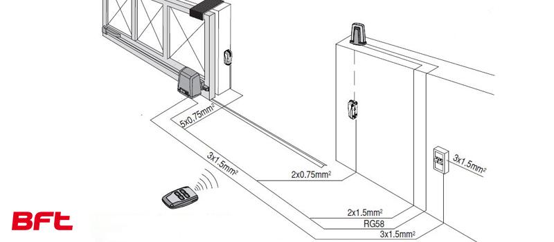 Proiect Kit automatizare porti culisante, Deimos A600 BT, Bft, 600Kg/poarta, 4m cremaliera, 12 m/min, 24V, casa smart 02