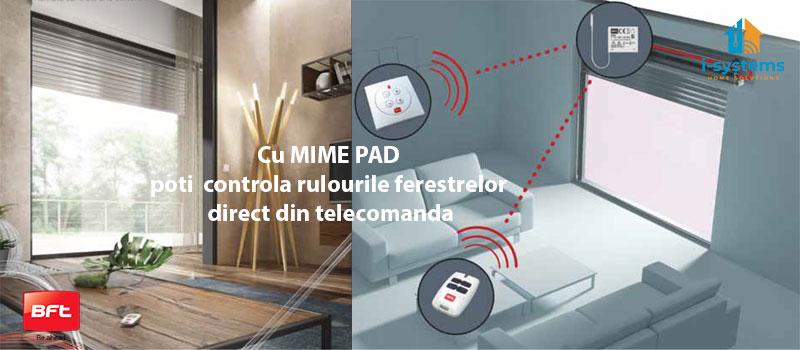 Telecomanda wireless cu 4 canale , Bft, MIME PAD, control radio, montaj perete, cod rulare_ I-Systems_6