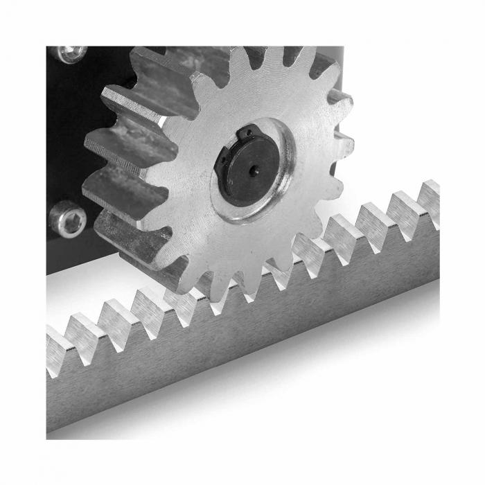 Cremaliera metalica zincata, BFT, CVZ-S, pentru automatizari porti culisante, 1m, 800Kg   I-Systems [2]