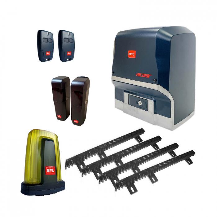 Kit automatizare porti culisante, BFT, Ares Veloce BT A500, 500Kg/poarta, 4m cremaliera, 24V | I-Systems [0]