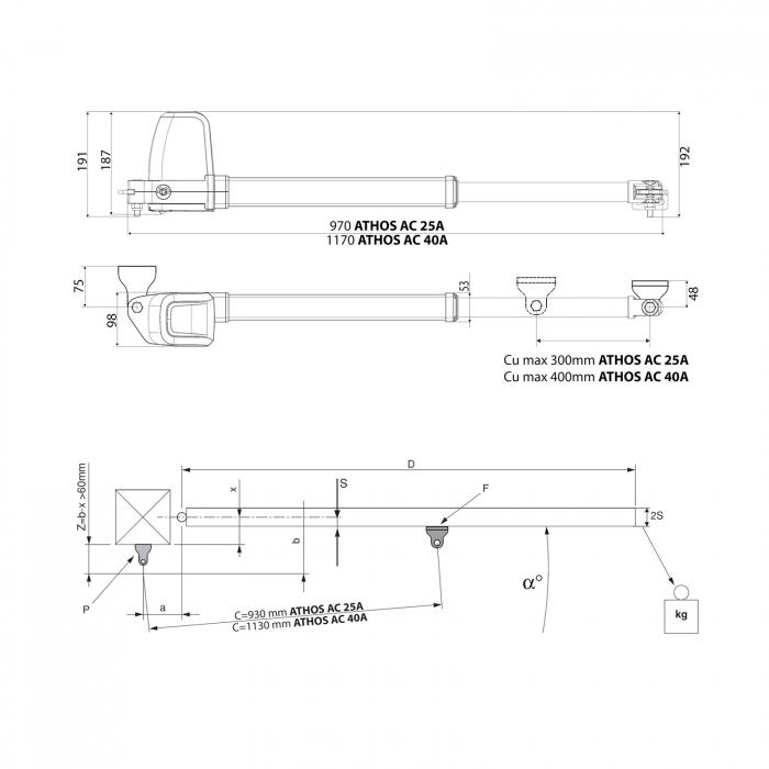 Kit automatizare porti batante, BFT, Athos AC A25, 2.5m/canat, 700Kg/canat, 230V   I-Systems [5]
