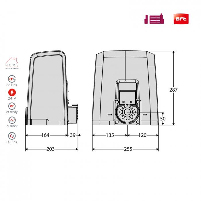 Kit automatizare porti culisante, BFT, Deimos ULTRA BT A400, 400Kg/poarta, U-Link | I-Systems [4]