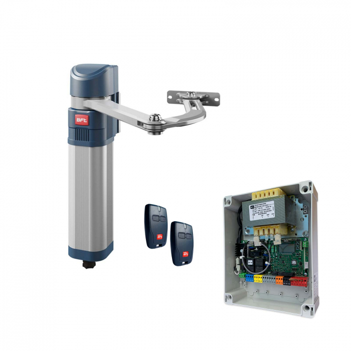 Kit automatizare poarta batanta cu brat articulat, BFT, E5 BT-A12, 1.2m/canat, 80Kg, 24V   I-Systems [0]