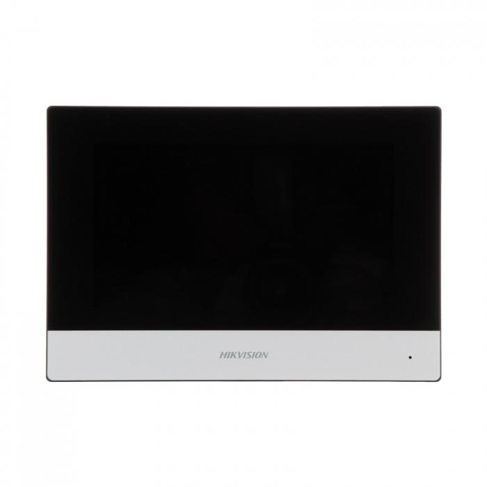 "Kit videointerfon pentru vila Hikvision IP DS-KV8102-IM DS-KH6320-WTE1, post exterior Aluminiu, monitor 7"" Touch-Screen | I-Systems [1]"