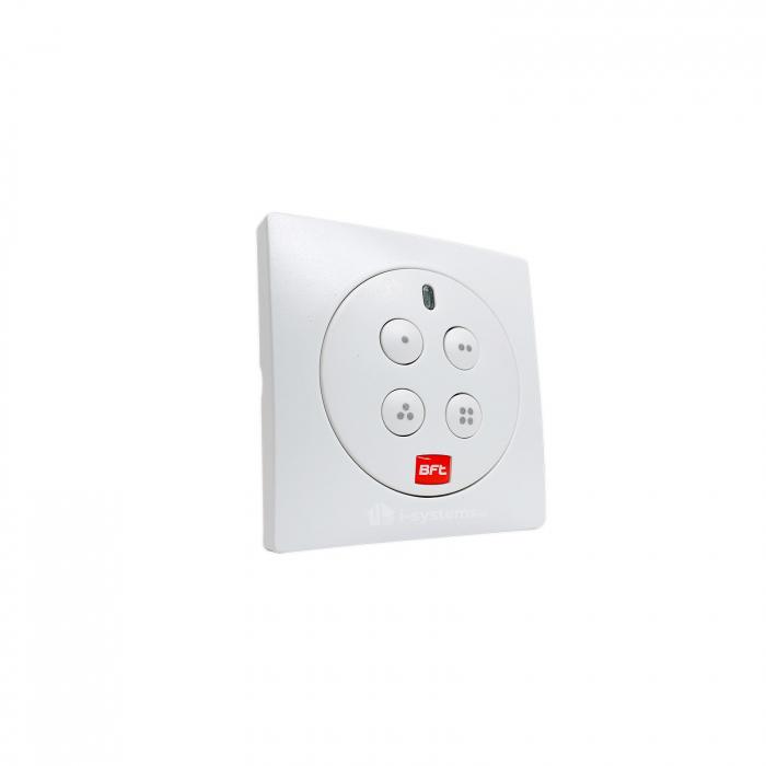 Telecomanda wireless cu 4 canale , Bft, MIME PAD, control radio, montaj perete, cod rulare   I-Systems [0]