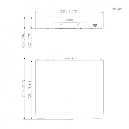 DVR XVR 4 canale Dahua XVR5104HS-I2 WizSense Pentabrid, 1080P, H.265+, 5MP   I-Systems [4]