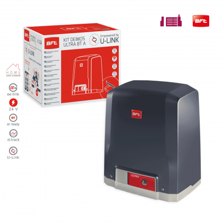 Kit automatizare porti culisante, BFT, Deimos ULTRA BT A400, 400Kg/poarta, U-Link | I-Systems [1]