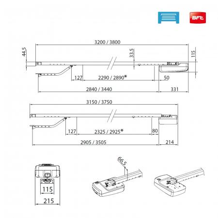Kit automatizare usi garaj, BFT Botticelli Smart BT A650 pentru usi sectionale motorizate, 10mp, 200W, 24V | I-Systems [6]