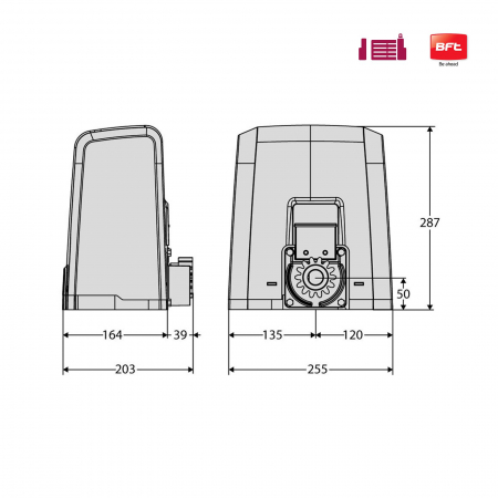 Kit automatizare porti culisante, BFT, Deimos AC A800-V, 400Kg/poarta, 4m cremaliera, 230V | I-Systems [3]