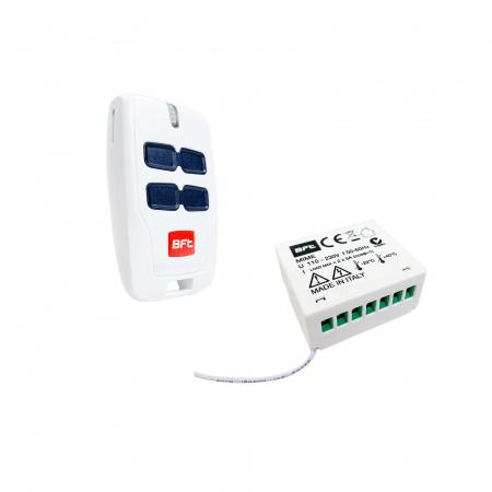 Kit receptor interior BFT, MIME AC, cu 2 canale si telecomanda Mitto 4, wireless, 230V | I-Systems [0]