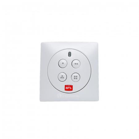 Telecomanda wireless cu 4 canale , Bft, MIME PAD, control radio, montaj perete, cod rulare   I-Systems [1]