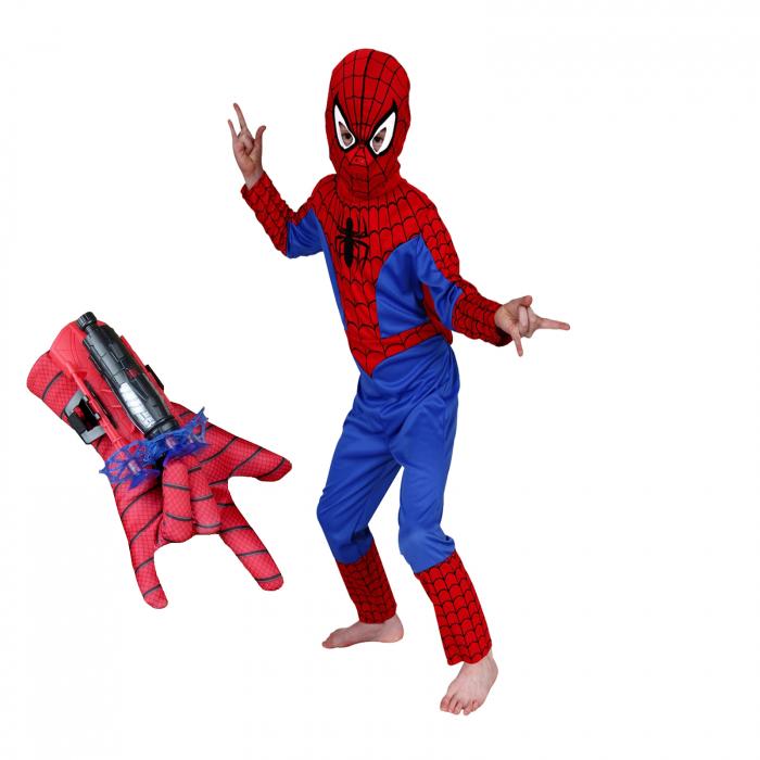 Set costum Spiderman, manusa cu ventuze si manusa cu discuri [1]