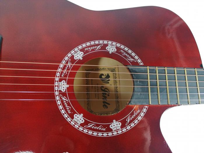 Chitara clasica din lemn 95 cm, visinie Cutaway, husa nylon inclusa 4