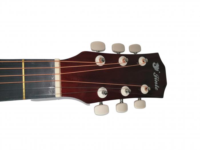 Chitara clasica din lemn 95 cm, Cutaway visinie 4