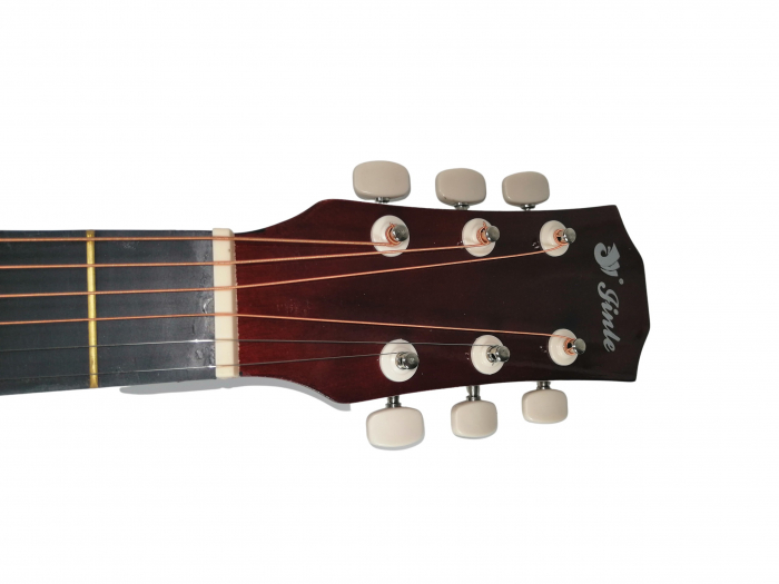 Chitara clasica din lemn 95 cm, visinie Cutaway, husa nylon inclusa 5