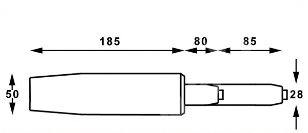 Cilindru piston, gaz, pentru scaune birou, argintiu, 35 cm [1]