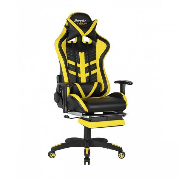 Scaun gamer US78 Racing Pro negru-galben 0
