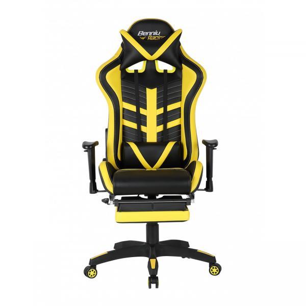 Scaun gamer US78 Racing Pro negru-galben 1