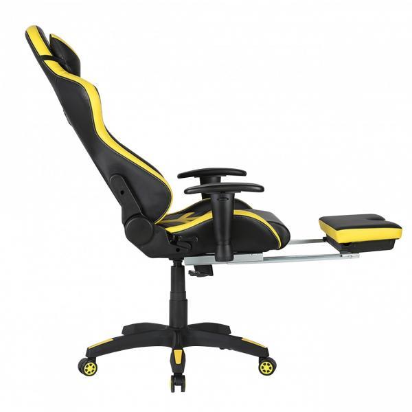 Scaun gamer US78 Racing Pro negru-galben 3
