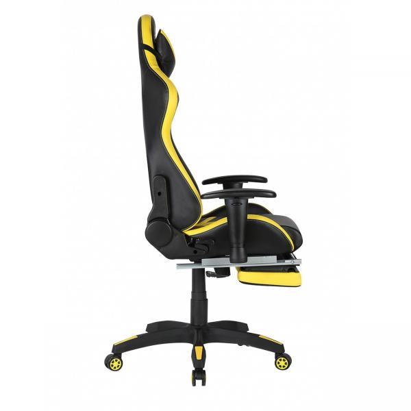 Scaun gamer US78 Racing Pro negru-galben 4