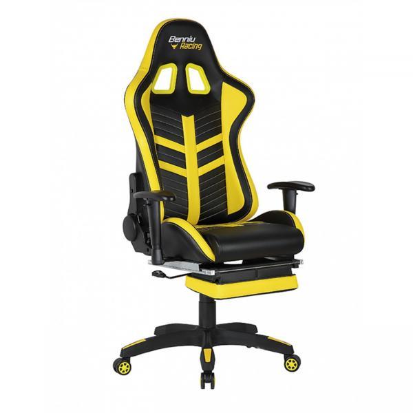 Scaun gamer US78 Racing Pro negru-galben 5