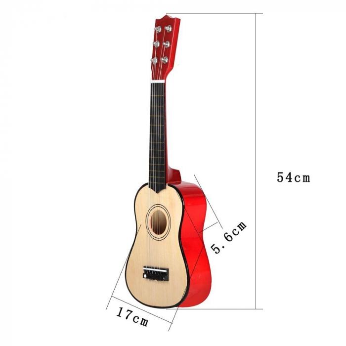 Chitara pentru copii, clasica, lemn, Junior, 54 cm [2]