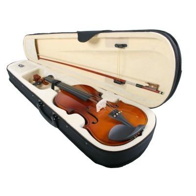 Vioara clasica din lemn 1/4 toc inclus + set corzi cadou 3