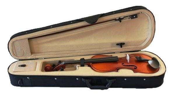 Vioara clasica din lemn 1/4 toc inclus + set corzi cadou 4