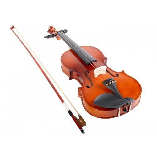 Vioara clasica din lemn 1/4 toc inclus + set corzi cadou 5