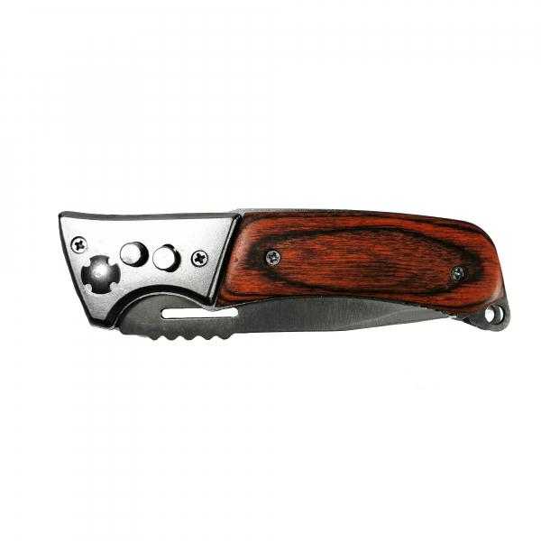 Cutit Stainless steel, pentru camping, 20 cm, husa cadou, automatic 2