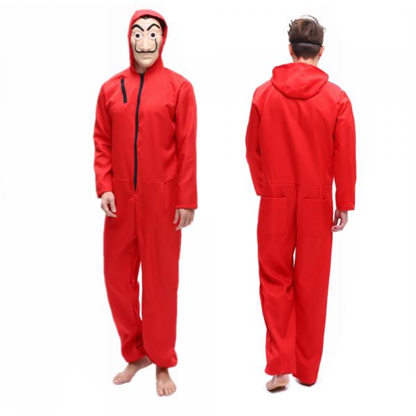 Costum pentru adulti, La Casa de Papel, marimea L, rosu 2