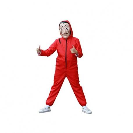 Costum pentru copii, La Casa de Papel, marimea L 120-130 cm, rosu 3