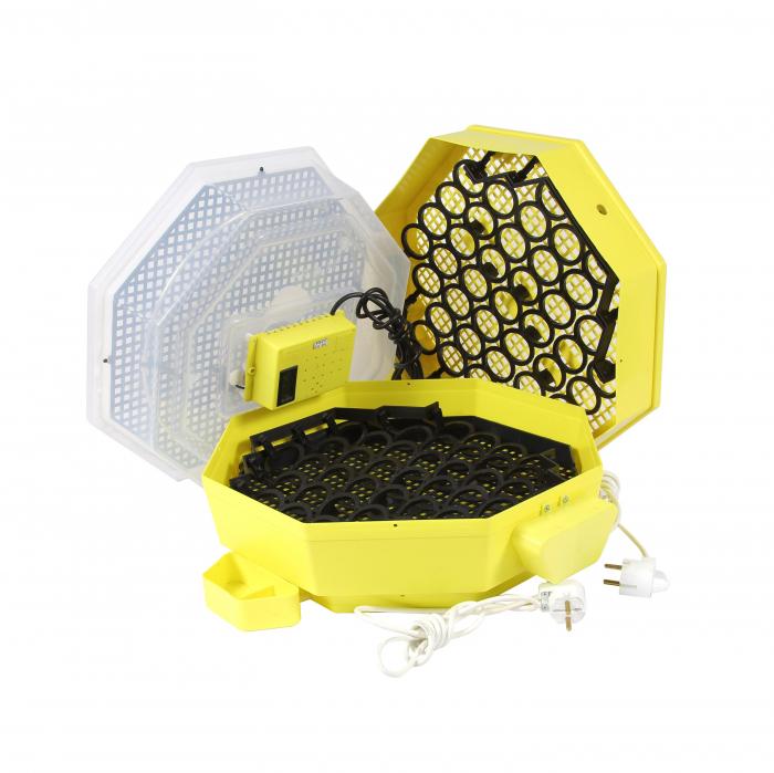 Incubator electric pentru oua cu dispozitiv dublu de intoarcere automat, termometru si hidrociclometru, Cleo, model 5X2-DTH [1]