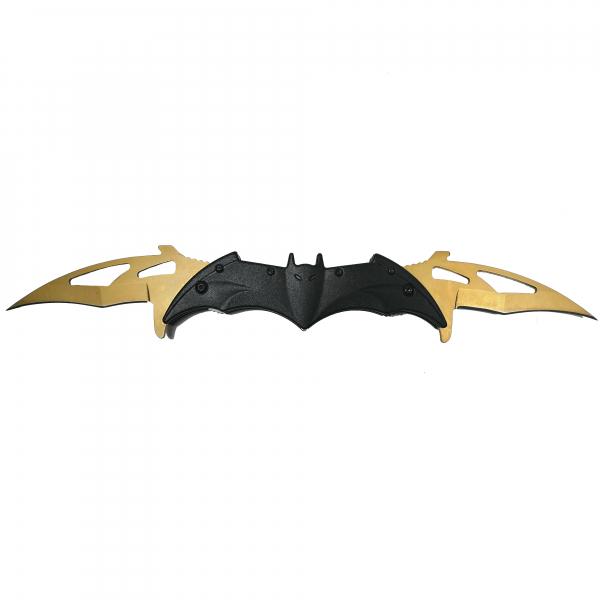 Briceag-cutit, doua taisuri, negru-auriu, Clasic Batman Style, 32 cm 0