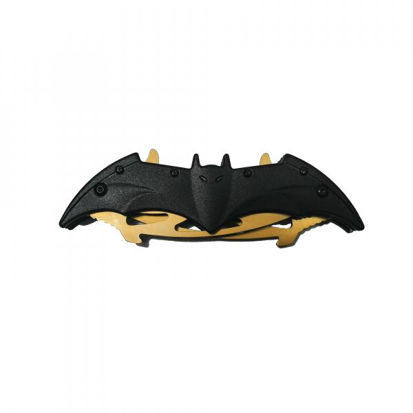 Briceag-cutit, doua taisuri, negru-auriu, Clasic Batman Style, 32 cm 1