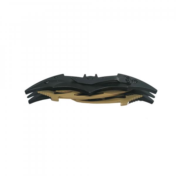 Briceag-cutit, doua taisuri, negru-auriu, Clasic Batman Style, 32 cm 2