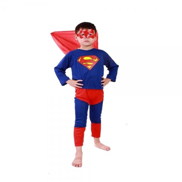 Costum tip Superman pentru copii marime S, 3 - 5 ani 1
