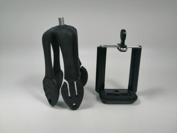 Mini trepied flexibil, Geko, adaptor telefon, 8.5 cm, negru 3