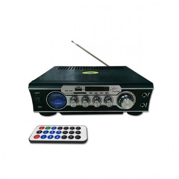 Amplificator digital, tip Statie, 2x30 W, telecomanda, USB-SD, 2 intrari microfon 0