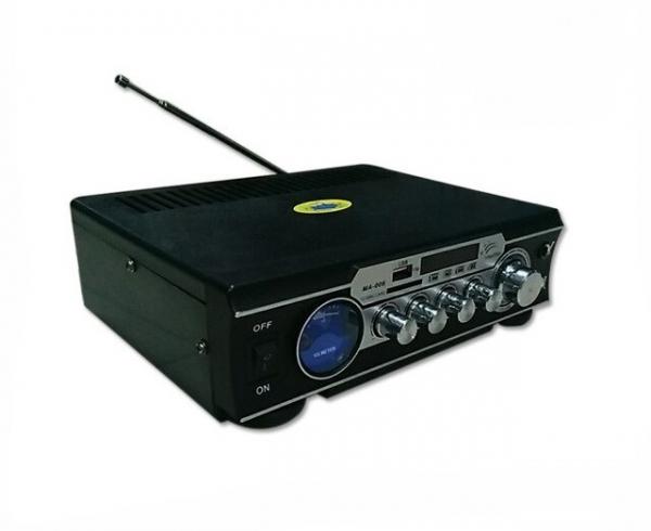 Amplificator digital, tip Statie, 2x30 W, telecomanda, USB-SD, 2 intrari microfon 1