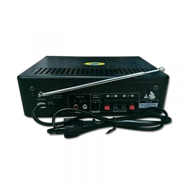 Amplificator digital, tip Statie, 2x30 W, telecomanda, USB-SD, 2 intrari microfon 2