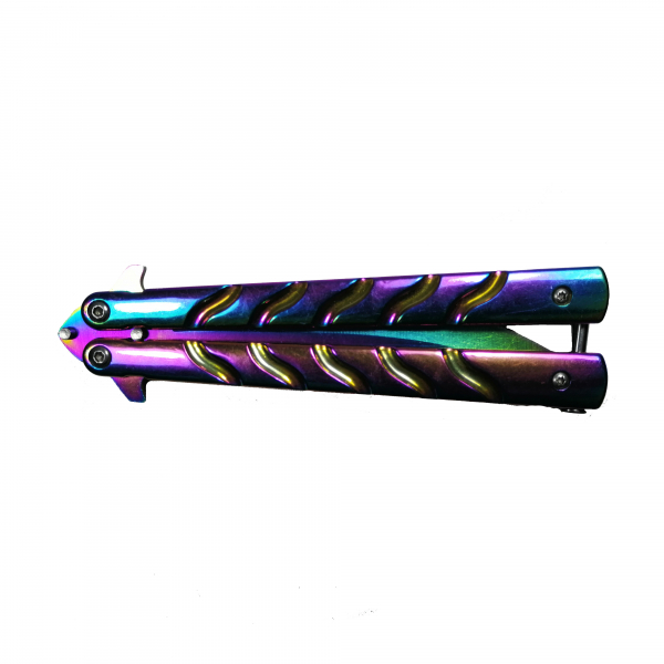 Cutit, Briceag fluture, Balisong, Butterfly 22.5 cm, Rainbow-Palette 1
