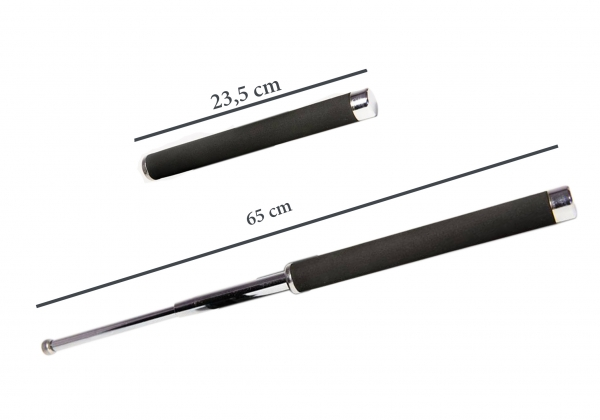 Baston telescopic 65 cm argintiu 3